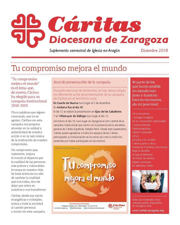 Separata de Iglesia en Aragón. Diciembre 2018